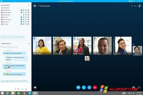 Screenshot Skype for Business untuk Windows XP