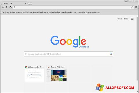 Screenshot Google Chrome untuk Windows XP