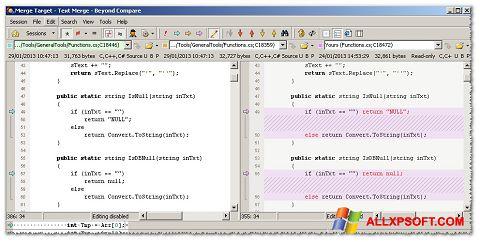 Screenshot Beyond Compare untuk Windows XP