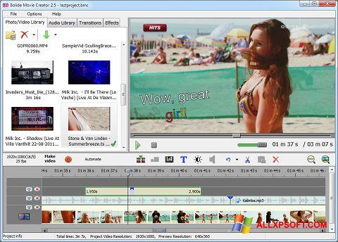 Screenshot Bolide Movie Creator untuk Windows XP