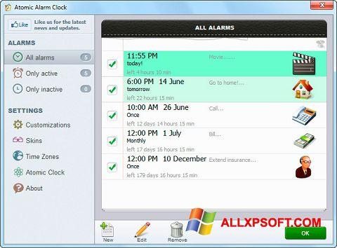 Screenshot Atomic Alarm Clock untuk Windows XP