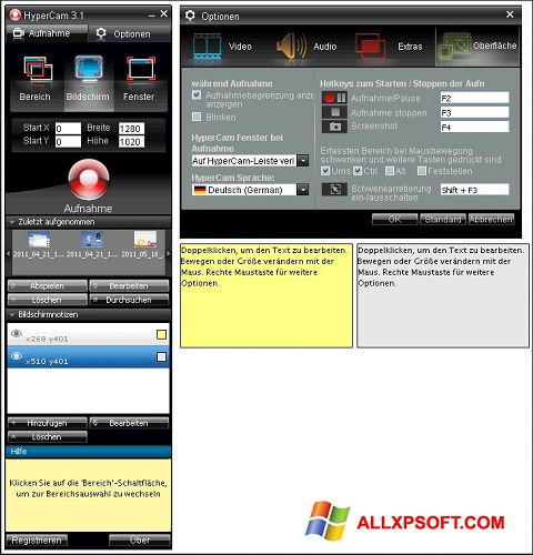 Screenshot HyperCam untuk Windows XP