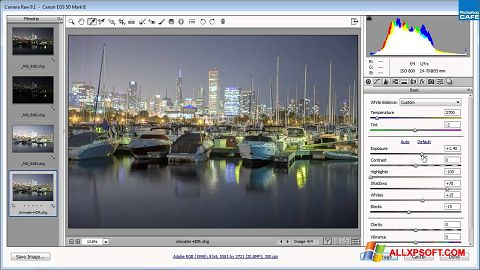 Screenshot Adobe Camera Raw untuk Windows XP