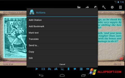 Screenshot AlReader untuk Windows XP