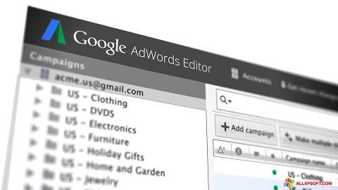 Screenshot AdWords Editor untuk Windows XP