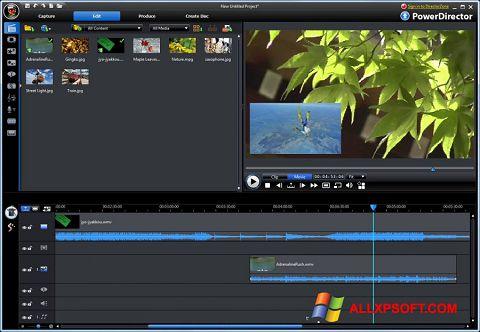 Screenshot CyberLink PowerDirector untuk Windows XP