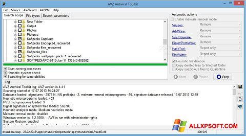 Screenshot AVZ untuk Windows XP