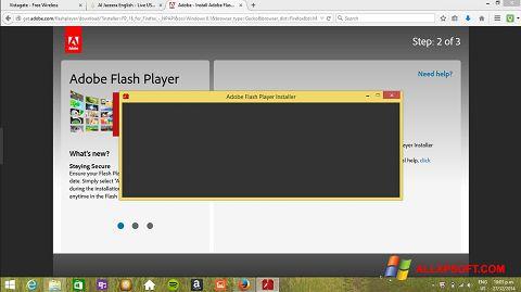 Screenshot Adobe Flash Player untuk Windows XP