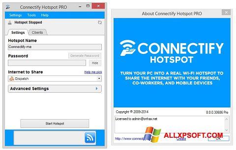 Screenshot Connectify Hotspot PRO untuk Windows XP