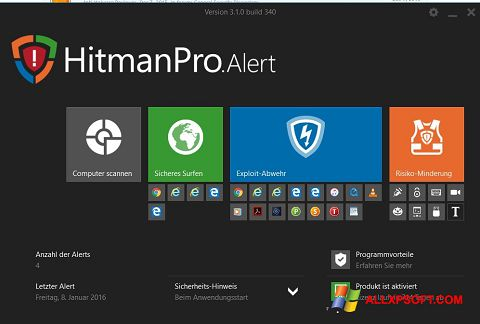 Screenshot HitmanPro untuk Windows XP