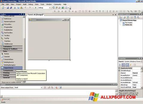 Screenshot Microsoft Visual Studio untuk Windows XP