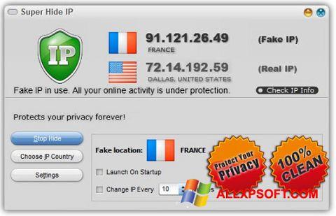 Screenshot Super Hide IP untuk Windows XP