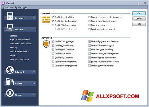Screenshot WinLock untuk Windows XP
