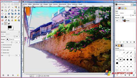 Screenshot GIMP untuk Windows XP