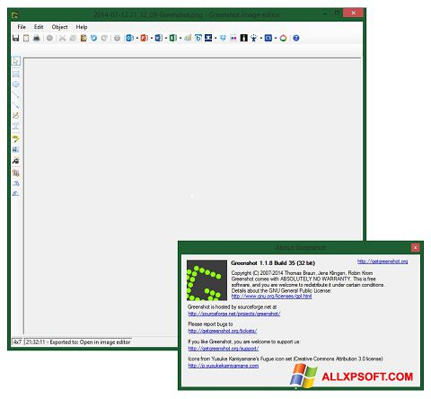 Screenshot Greenshot untuk Windows XP