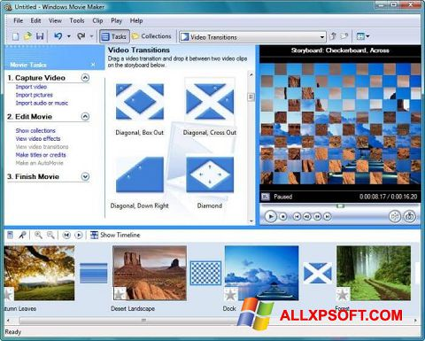 Screenshot Windows Movie Maker untuk Windows XP