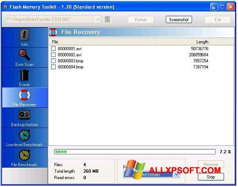 Screenshot Flash Memory Toolkit untuk Windows XP