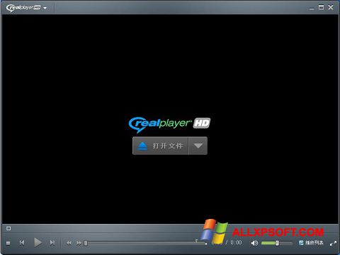 Screenshot RealPlayer untuk Windows XP