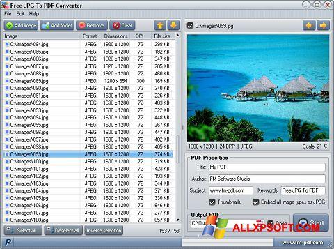 Screenshot JPG to PDF Converter untuk Windows XP