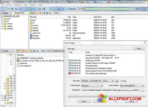 Screenshot UltraISO untuk Windows XP