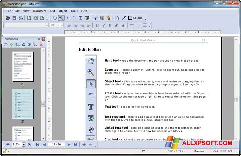 Screenshot Infix PDF Editor untuk Windows XP