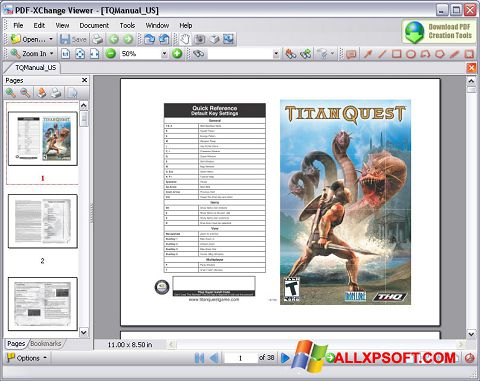 Screenshot PDF-XChange Viewer untuk Windows XP
