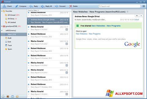 Screenshot FoxMail untuk Windows XP