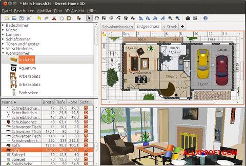 Screenshot Sweet Home 3D untuk Windows XP