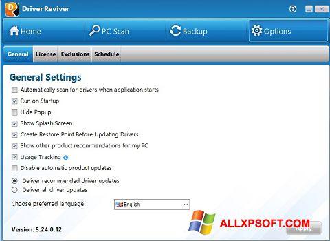Screenshot Driver Reviver untuk Windows XP