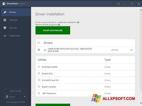 Screenshot DriverPack Solution untuk Windows XP