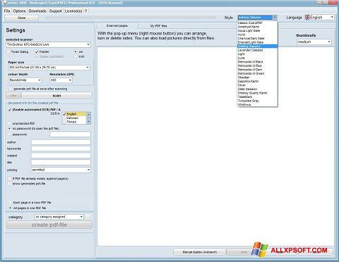 Screenshot Scan2PDF untuk Windows XP