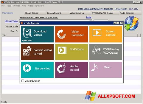 Screenshot aTube Catcher untuk Windows XP