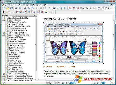 Screenshot Foxit PDF Editor untuk Windows XP