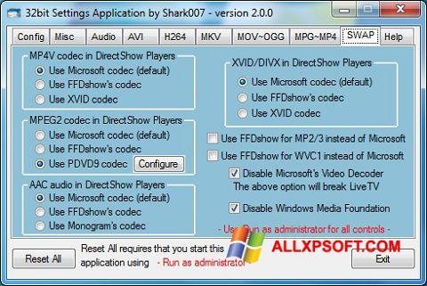 Screenshot ADVANCED Codecs untuk Windows XP
