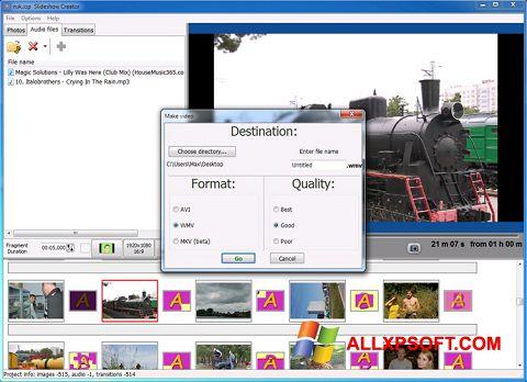 Screenshot Bolide Slideshow Creator untuk Windows XP