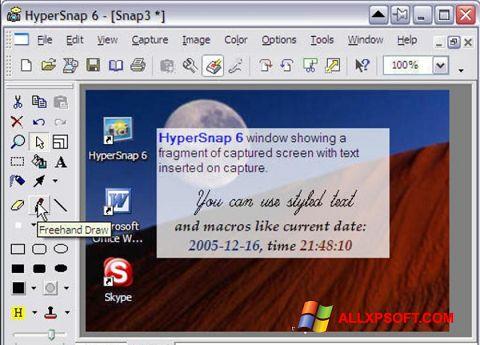 Screenshot HyperSnap untuk Windows XP