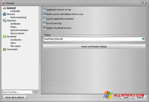 Screenshot VSO Downloader untuk Windows XP