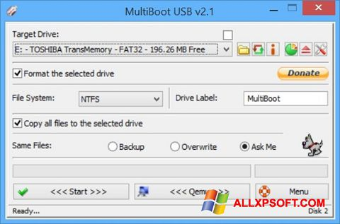 Screenshot Multi Boot USB untuk Windows XP