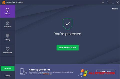 Screenshot Avast Free Antivirus untuk Windows XP