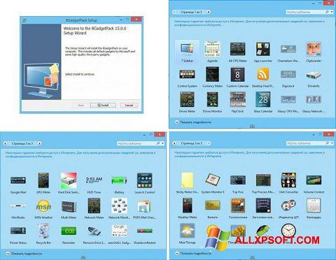 Screenshot 8GadgetPack untuk Windows XP