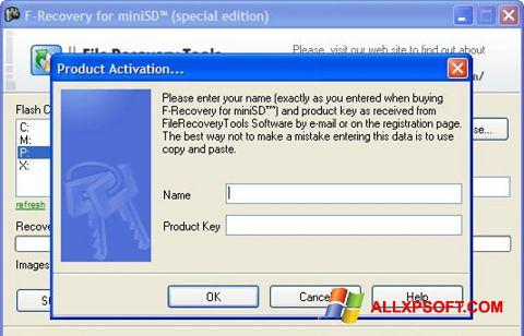 Screenshot F-Recovery SD untuk Windows XP