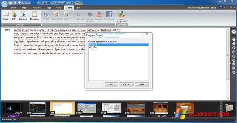 Screenshot Snagit untuk Windows XP