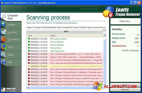 Screenshot Trojan Remover untuk Windows XP