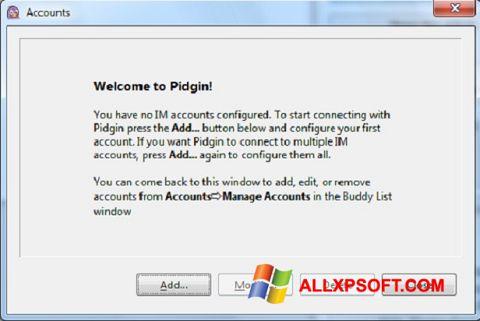 Screenshot Pidgin untuk Windows XP