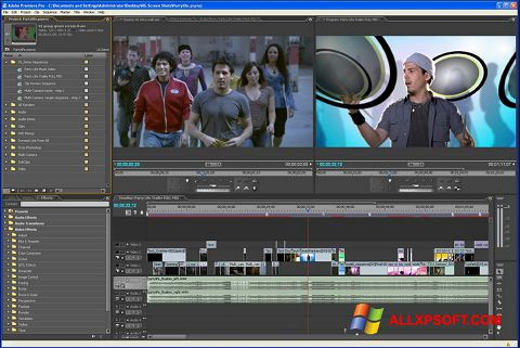 Screenshot Adobe Premiere Pro untuk Windows XP
