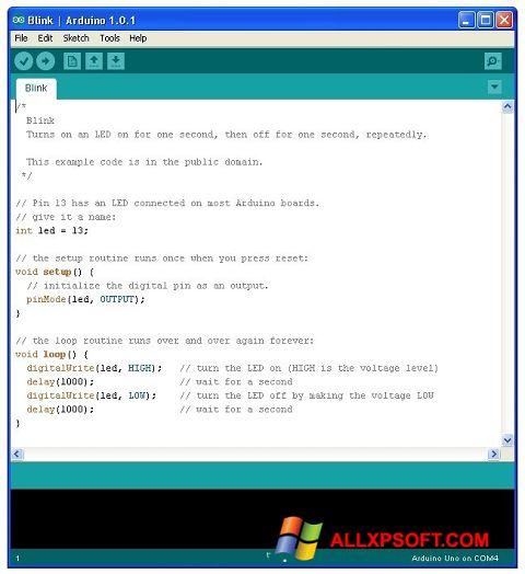 Screenshot Arduino untuk Windows XP