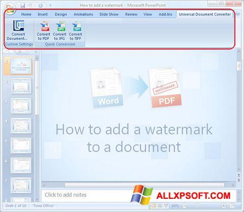 Screenshot Microsoft PowerPoint untuk Windows XP