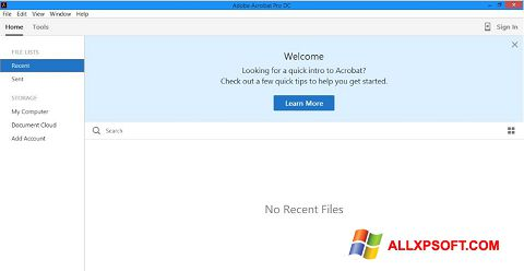 Screenshot Adobe Acrobat Pro DC untuk Windows XP
