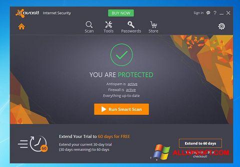 Screenshot Avast Internet Security untuk Windows XP