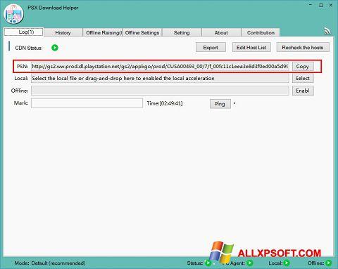 Screenshot DownloadHelper untuk Windows XP